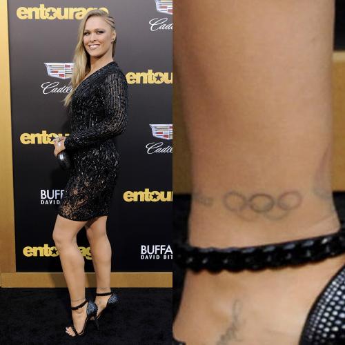 Ronda Rousey татуювання на щиколотці