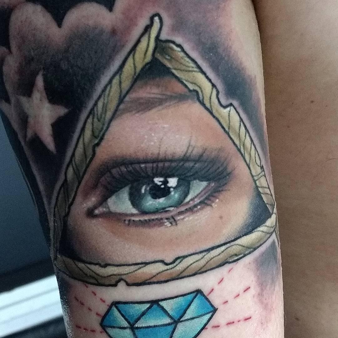 """Значение тату """"Всевидящее око"""" у девушек и парней"""