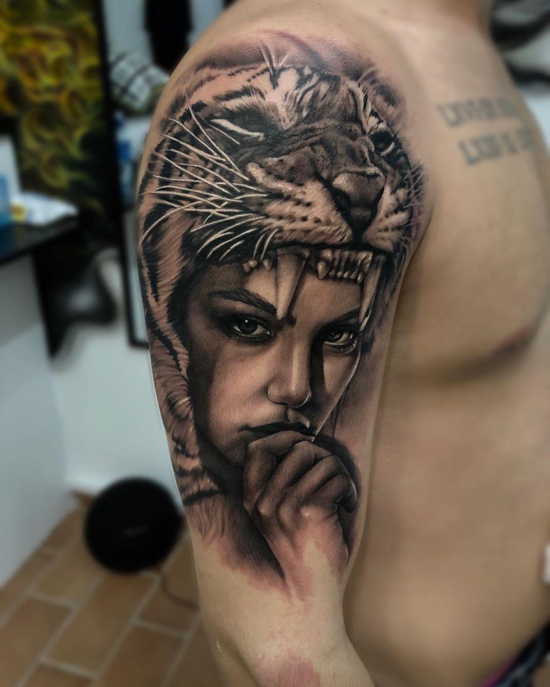 Тигры - Татуировки фото. Каталог тату