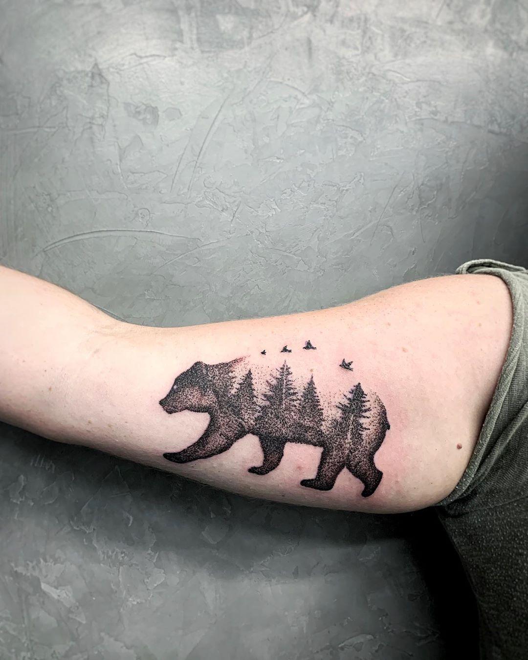 Тату медведь: 5значений