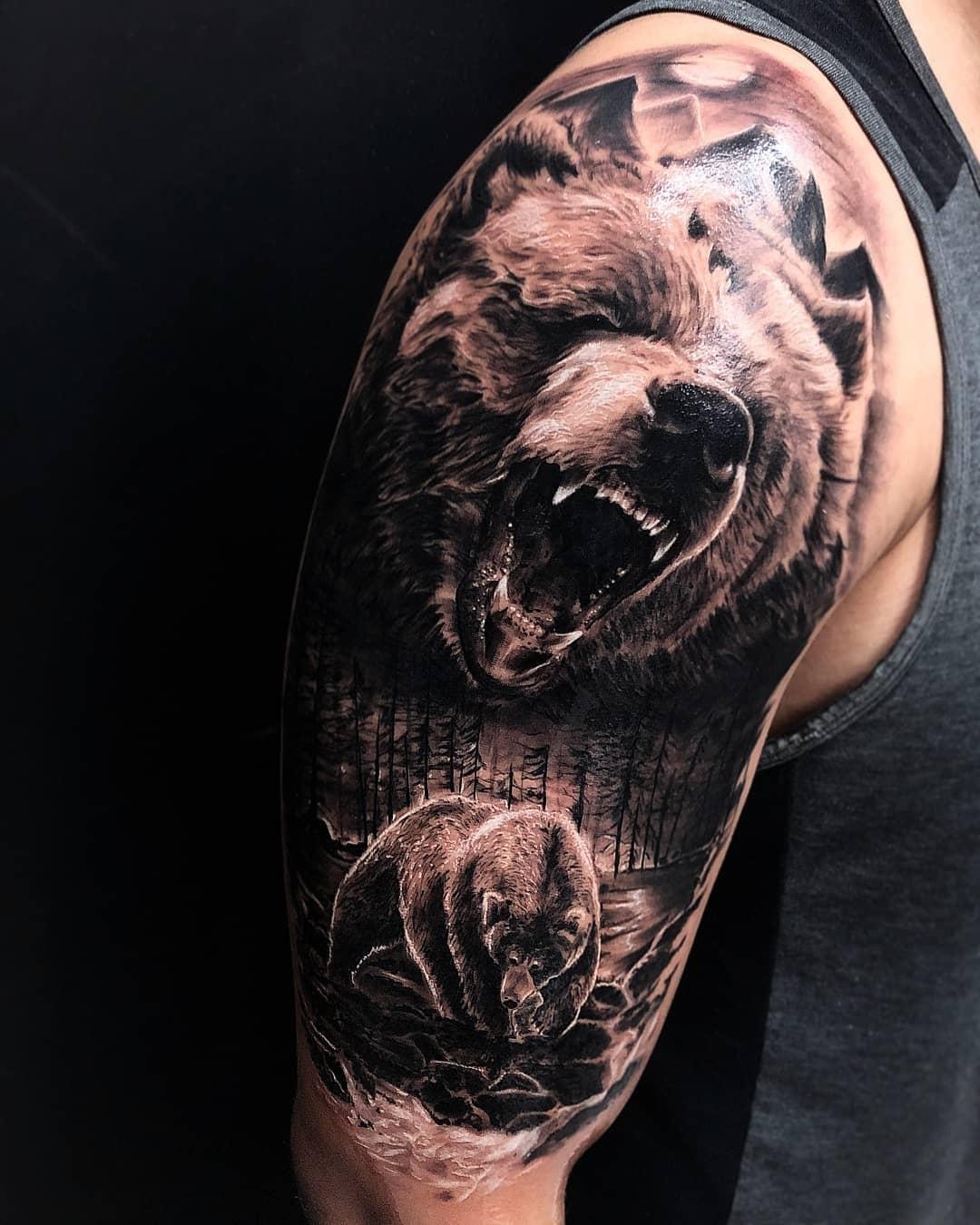Значение Тату Медведя: на Руке