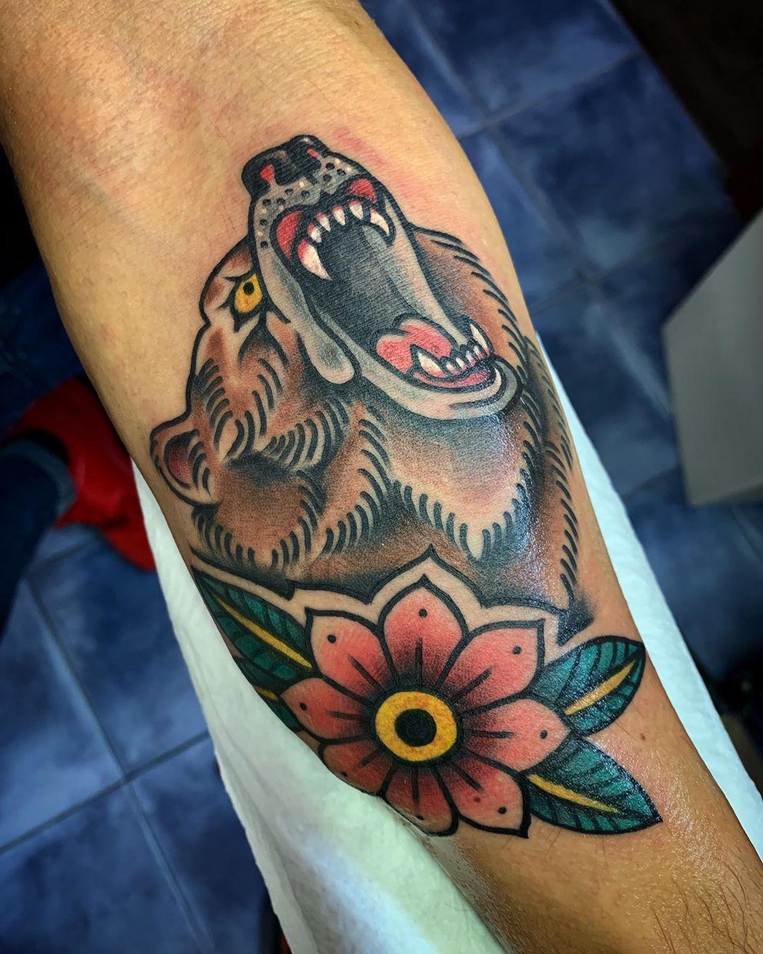Тату медведей — 111 лучших фото татуировок 2020года
