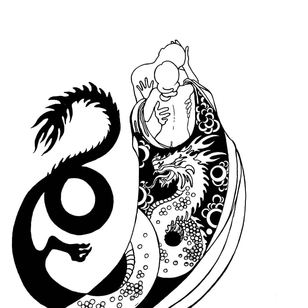 символическая татуировка дракона