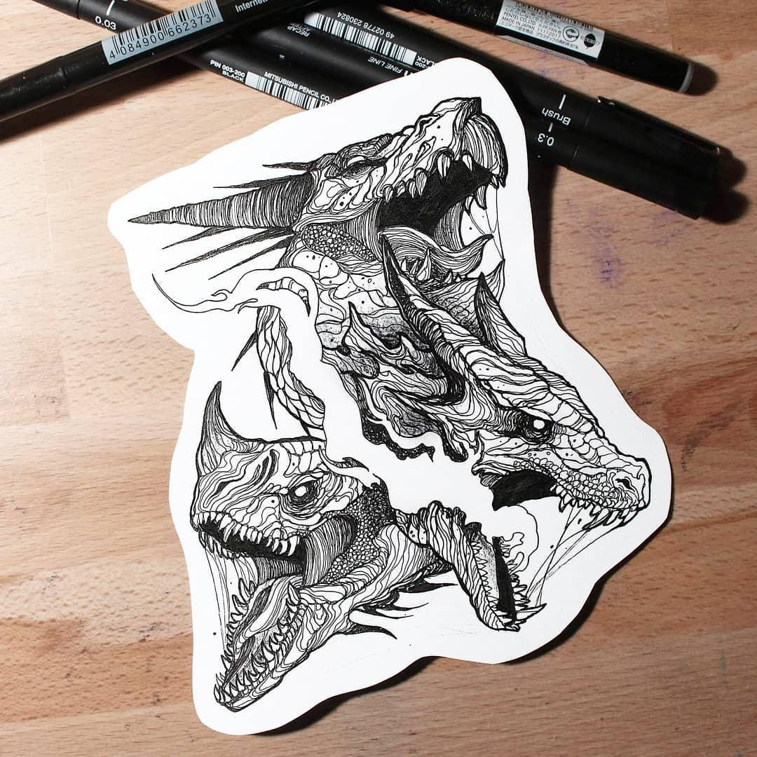 рычащие драконы