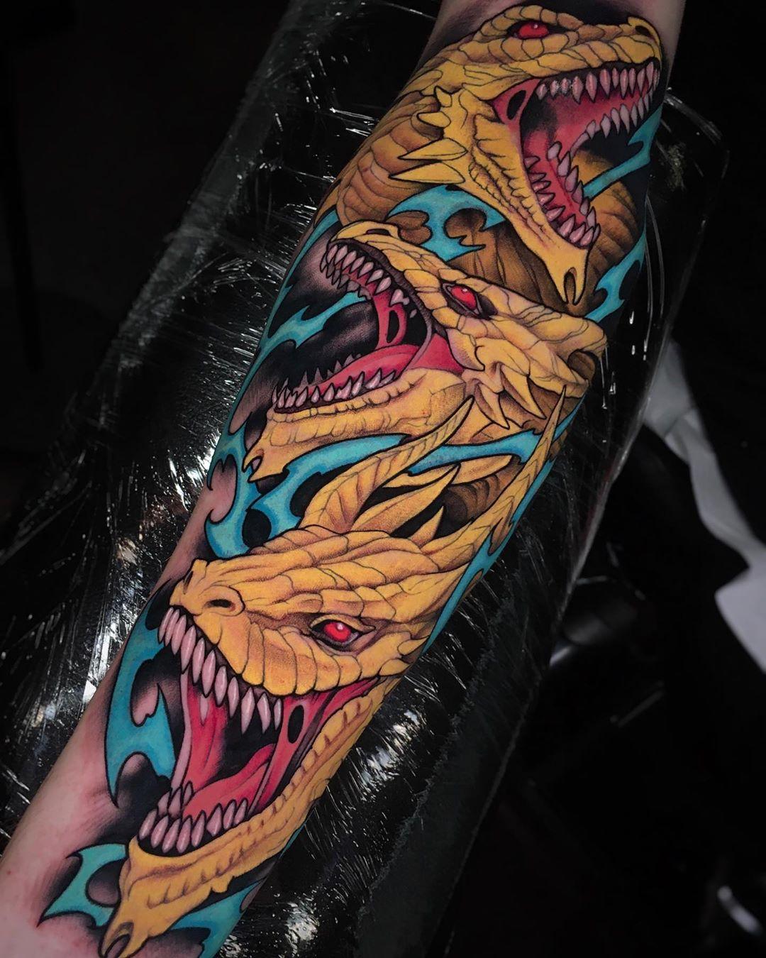 тату дракона в японском стиле