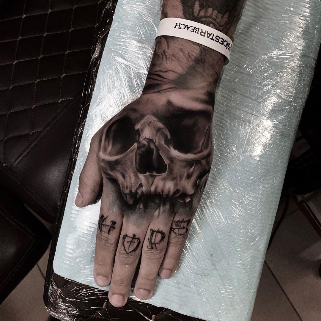 Татуировка череп - значение, эскизы тату и фото