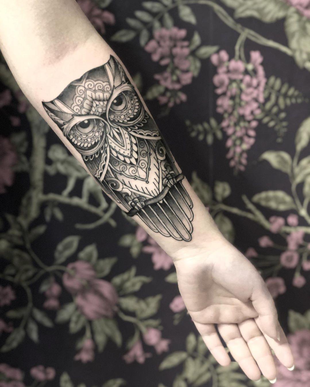 """Значение татуировки """"Сова"""". У девушек, парней"""