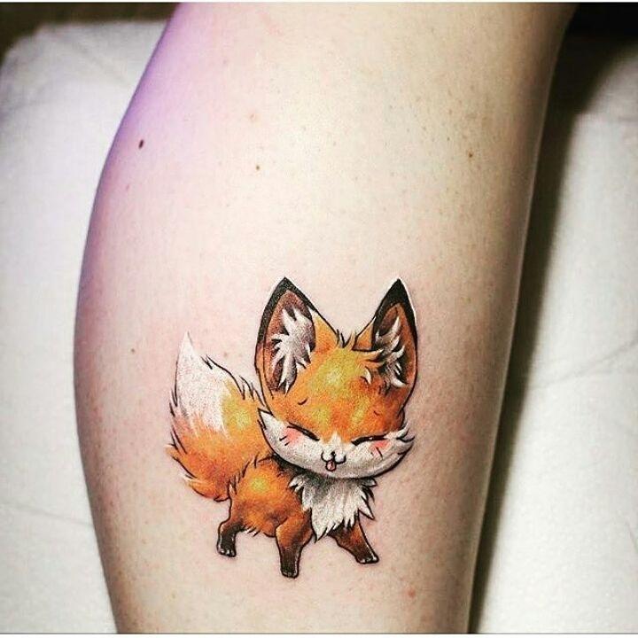 мультяшний лис татуювання