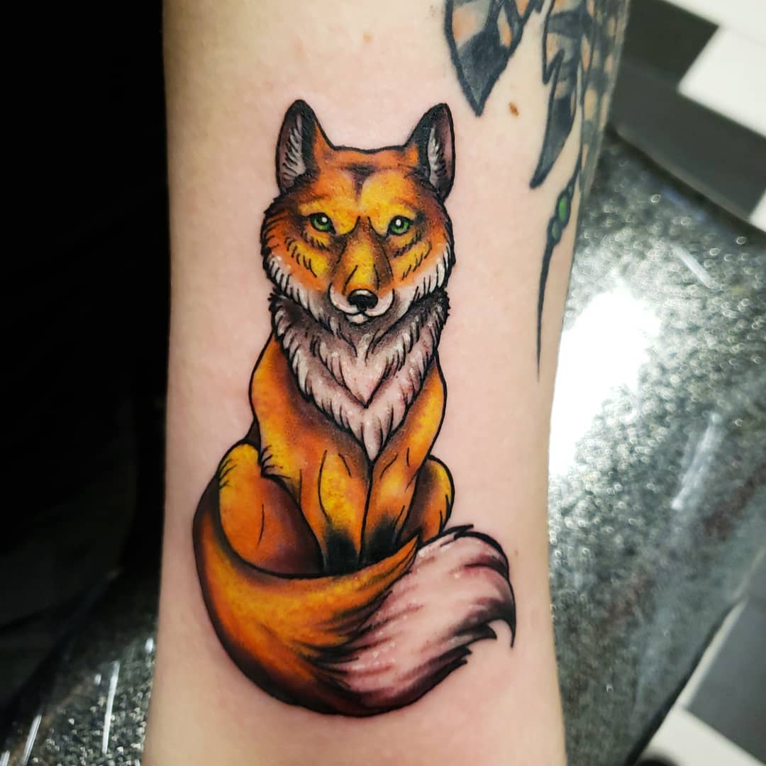 татуювання рудої лисиці
