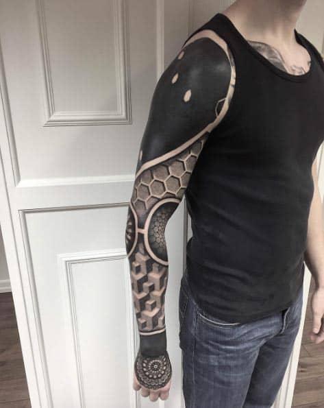 черный рукав для мужчин