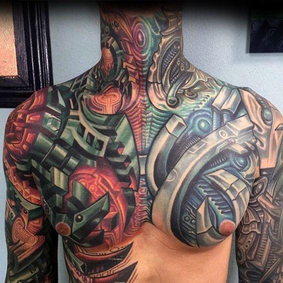 татуировка механики на груди