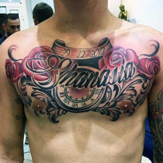 татуювання імені на грудях