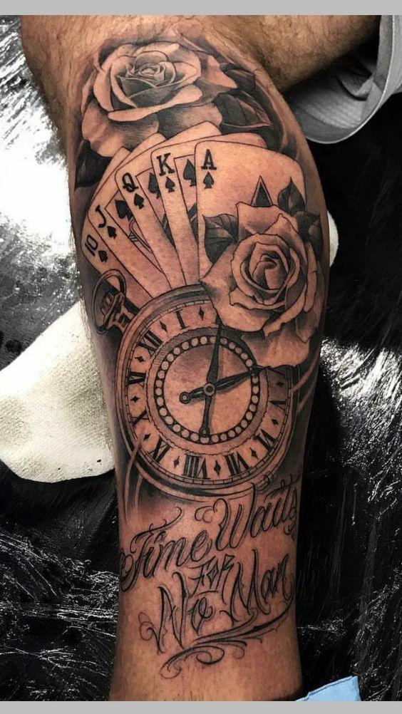 мужской рукав с часами