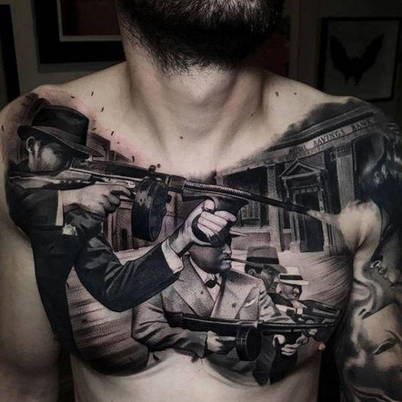 татуювання гангстерів на грудях