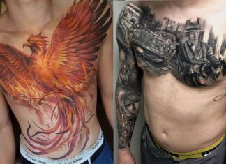 татуировка на груди у парней