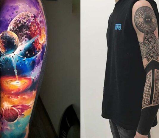 татуировки рукава для мужчин