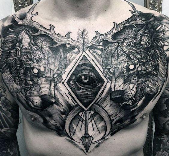 татуювання тварин на грудях