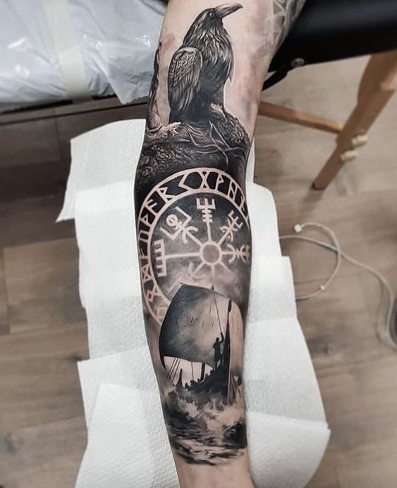рукав в стиле викингов