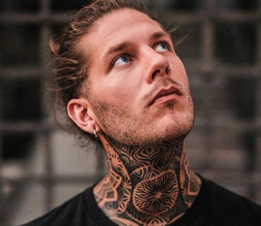 модные татуировки на шее для мужчин