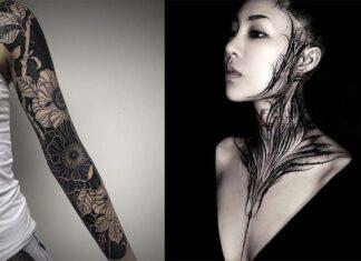 татуировки в стиле блэкворк