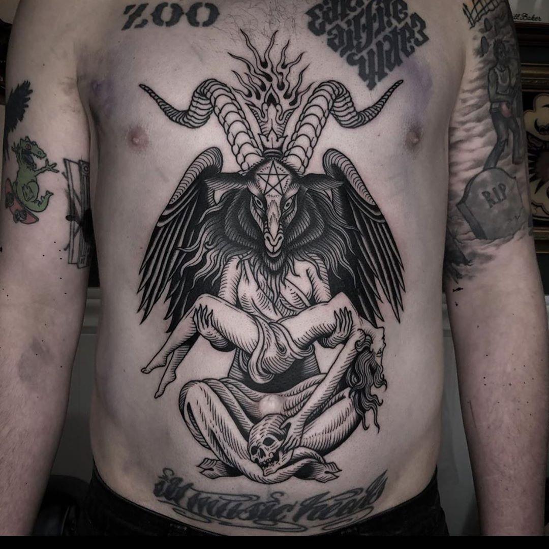 тату диявола блекворк