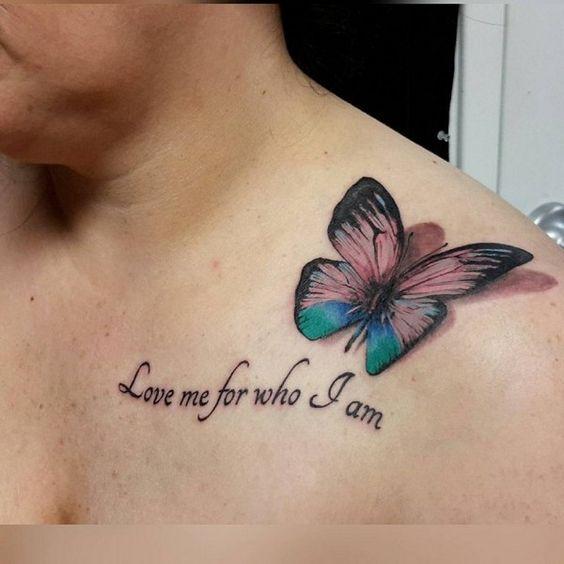татуювання цитати і метелика