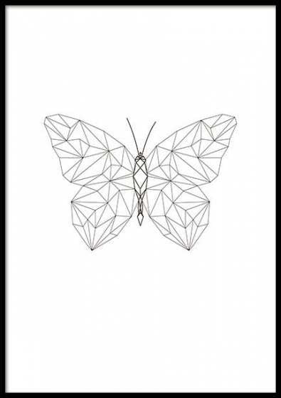 ескіз геометричного метелика