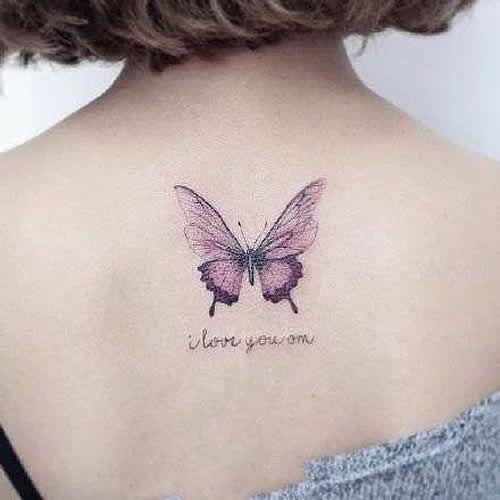 татуювання фіолетового метелика