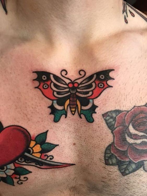 класичне татуювання метелика