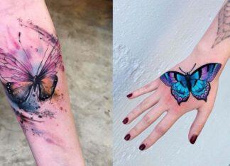 идеи татуировок с бабочкой