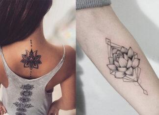 идеи татуировок лотоса для девушек