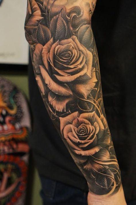 тату троянди на руці