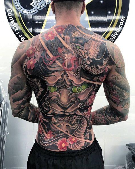 мужская татуировка фу-дог