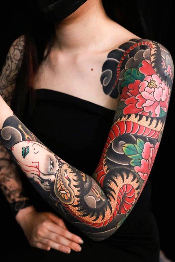 женский рукав в японском стиле