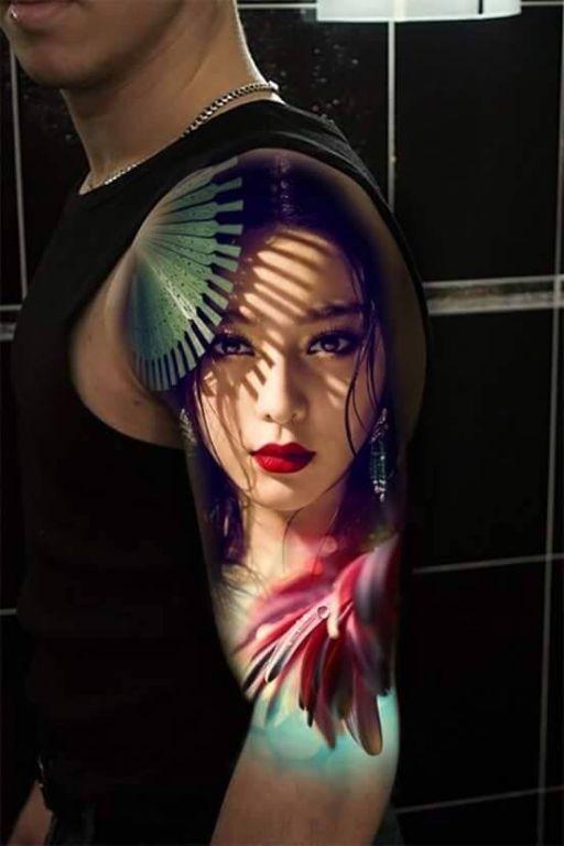 красивая татуировка для мужчин в японском стиле