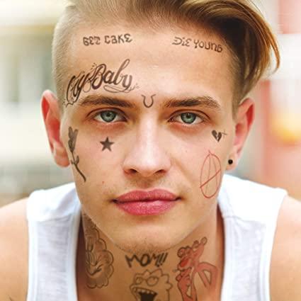 татуировка звезд на лице