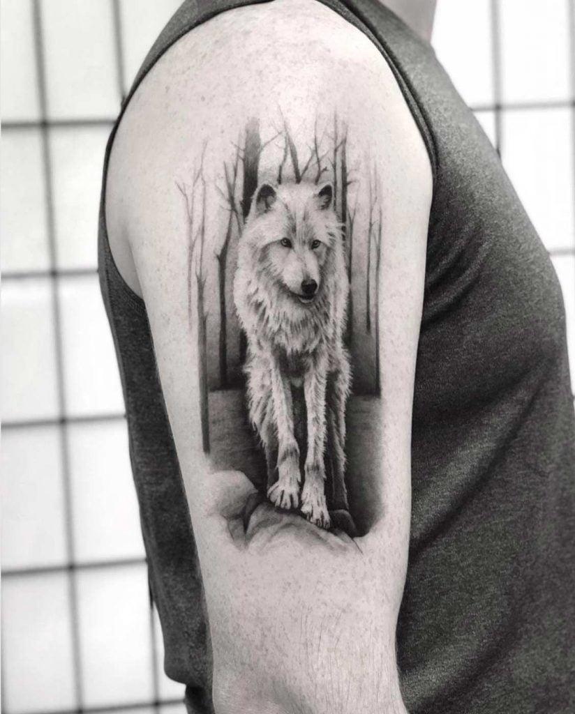 тату арктичного вовка