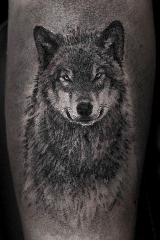 тату сірого вовка