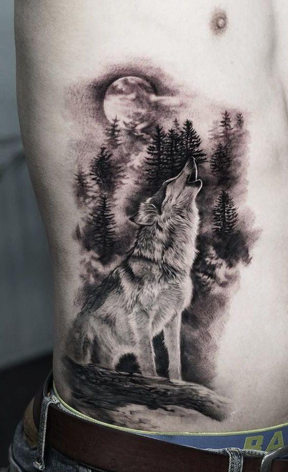татуювання виючого вовка