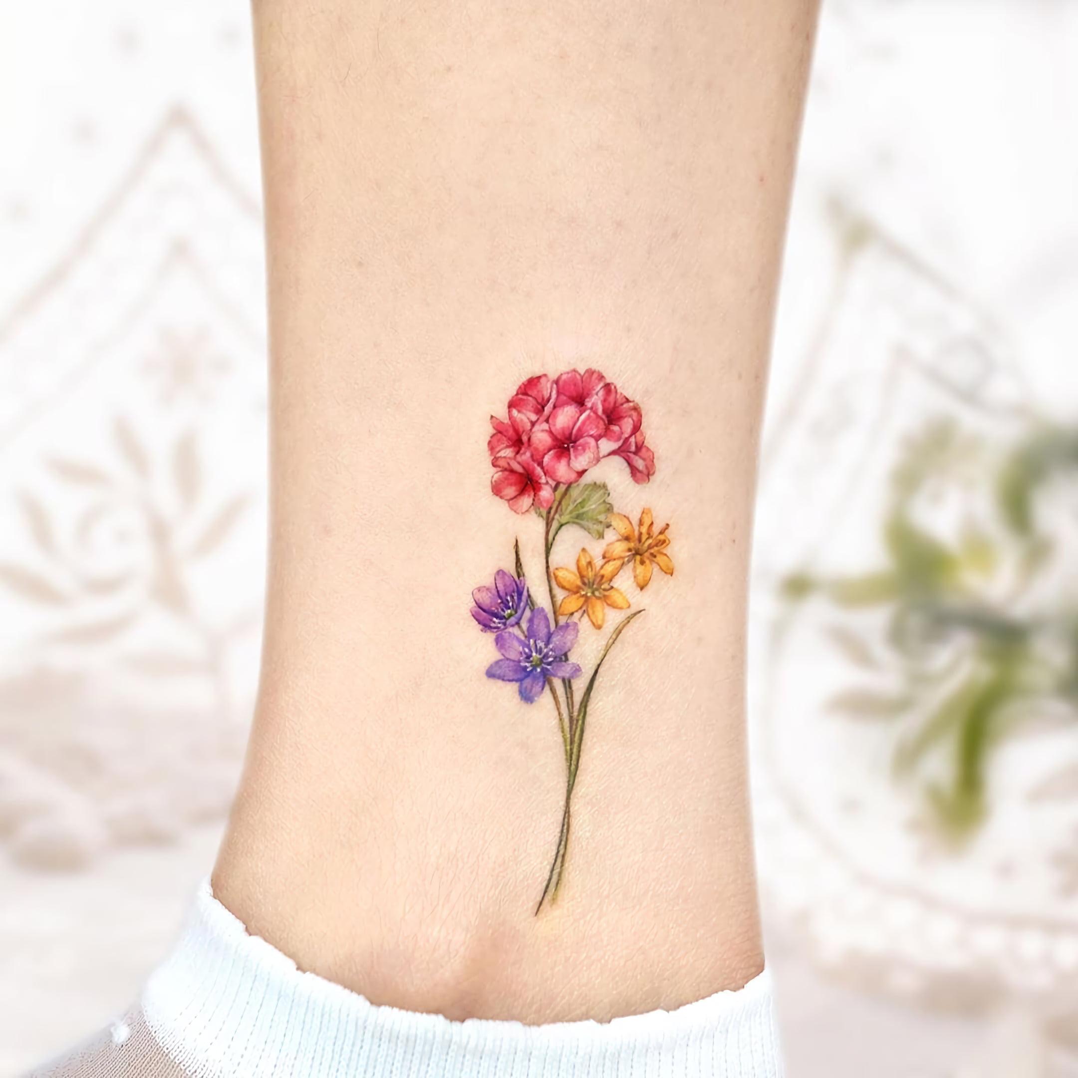 удаление татуировки на щиколотке