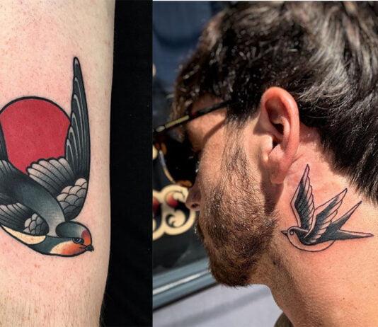 символическая татуировка ласточки