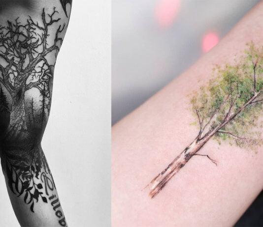 лучшие татуировки с деревом для мужчин
