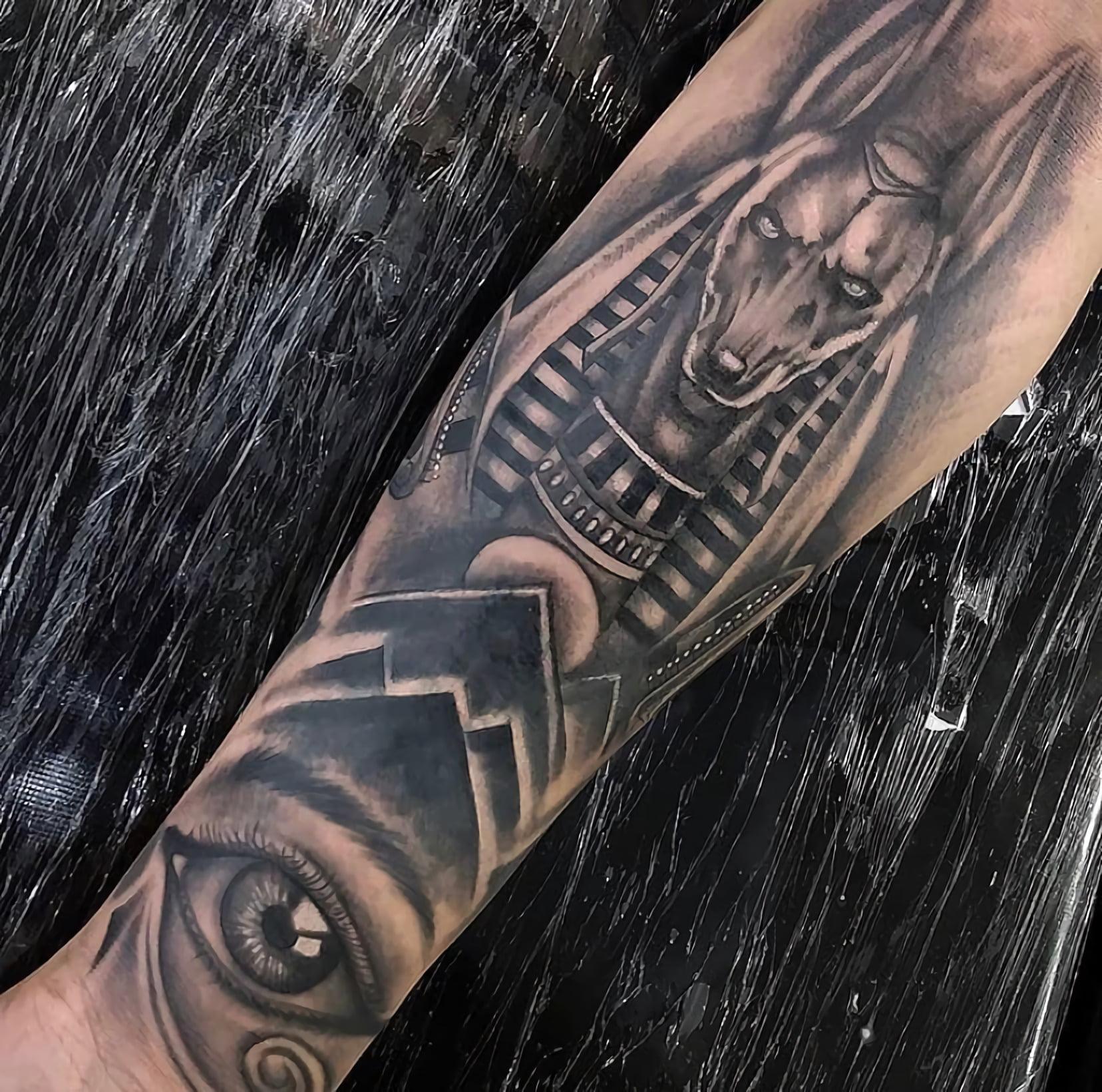 Стиль татуировок блэкворк