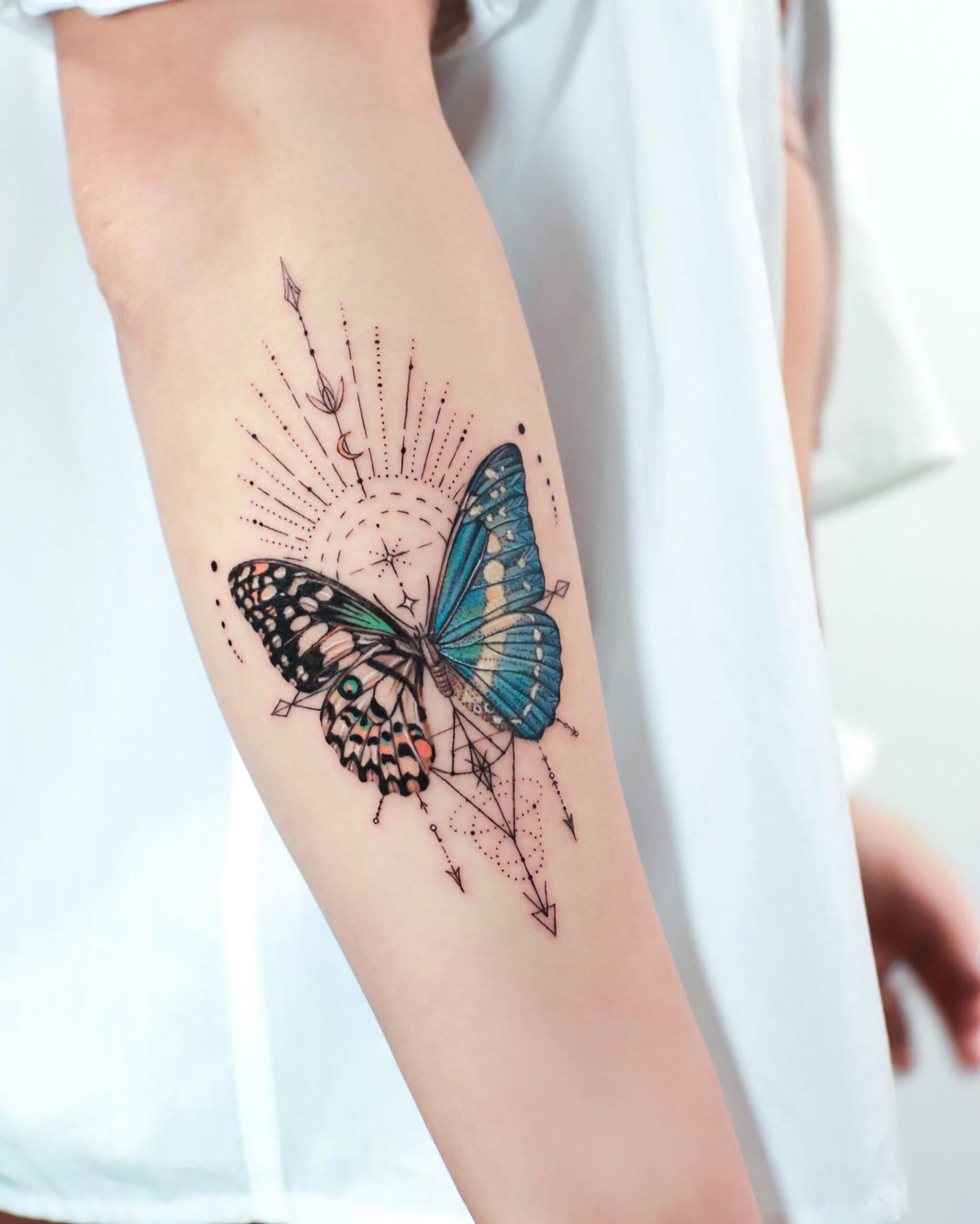 Татуировки в геометрическом стиле