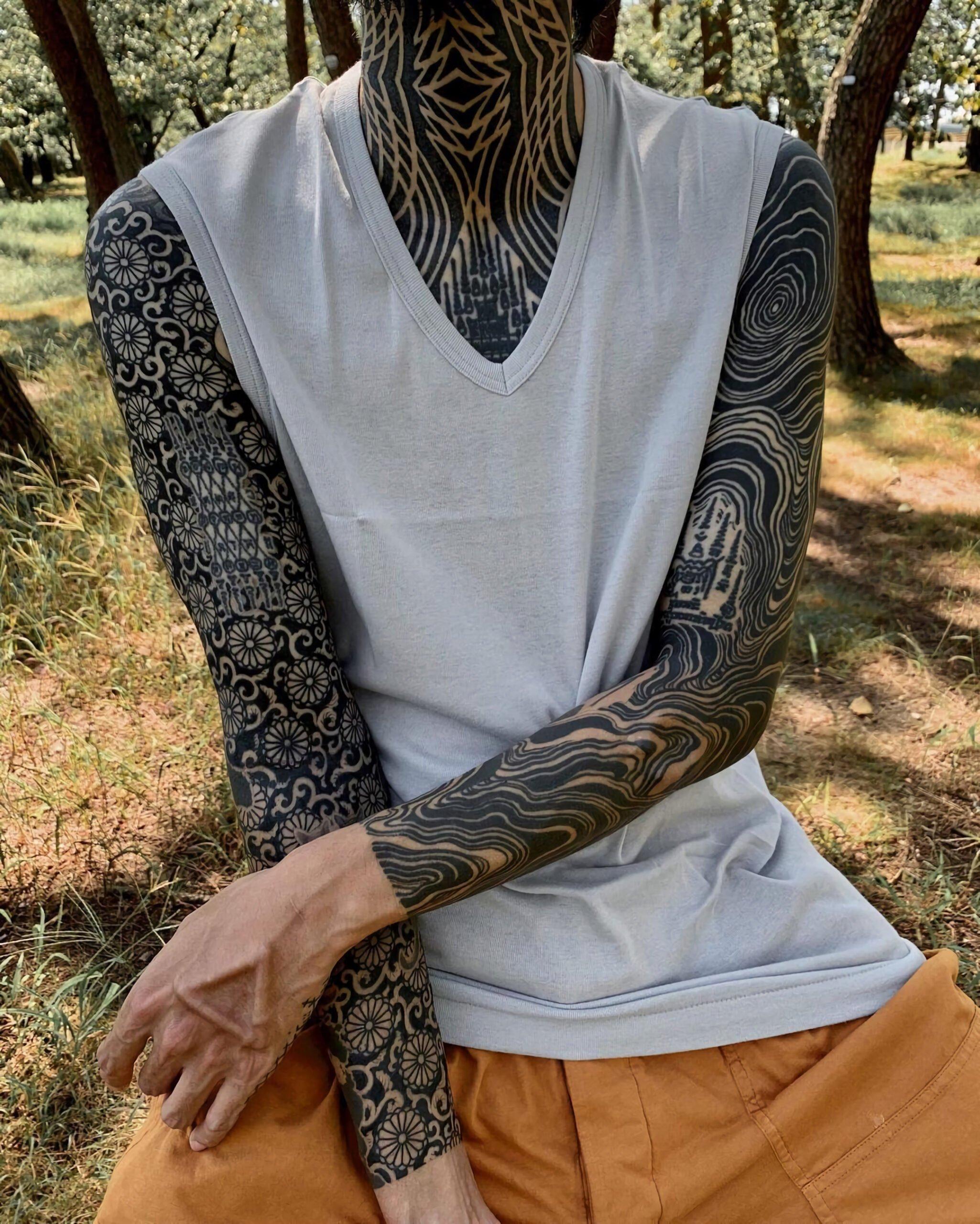 тату рукава в японском стиле