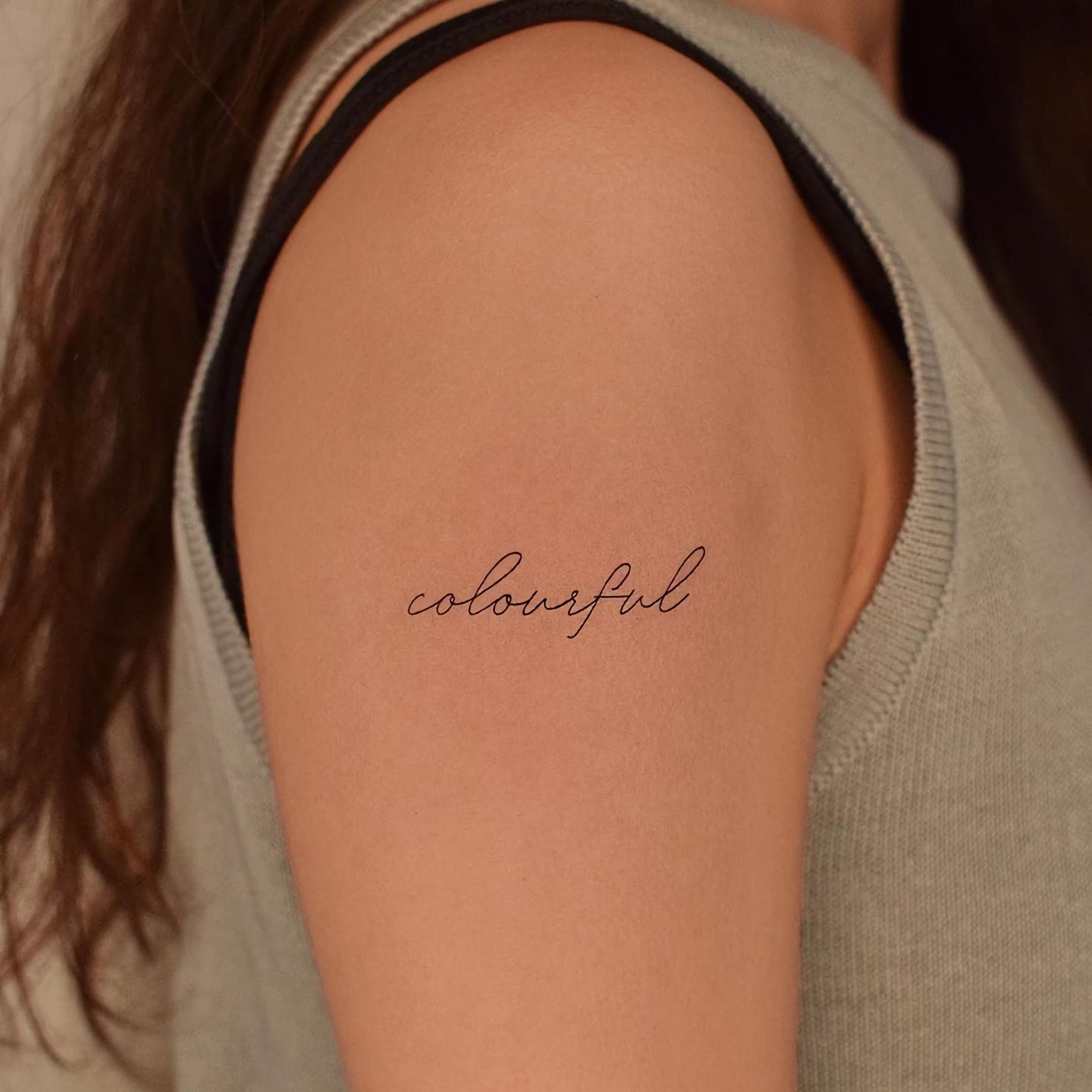 красивое маленькое тату надписи