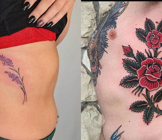 модные идеи татуировок на ребрах