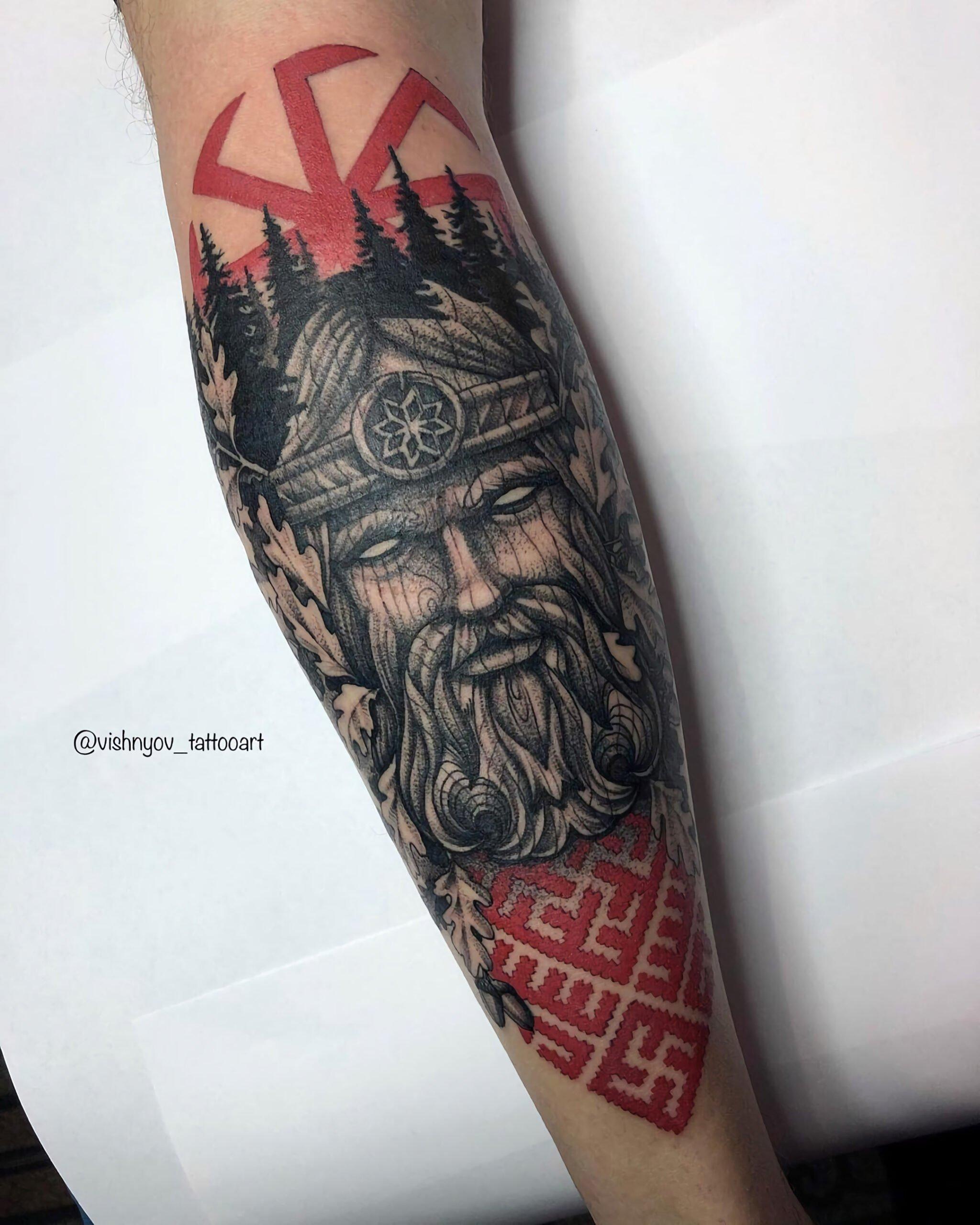 Языческий стиль татуировок