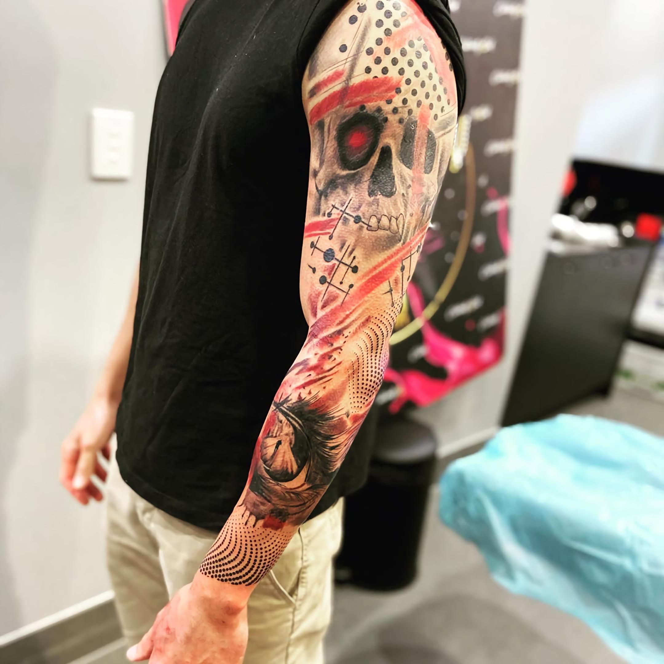 Стиль татуировок трэш- полька