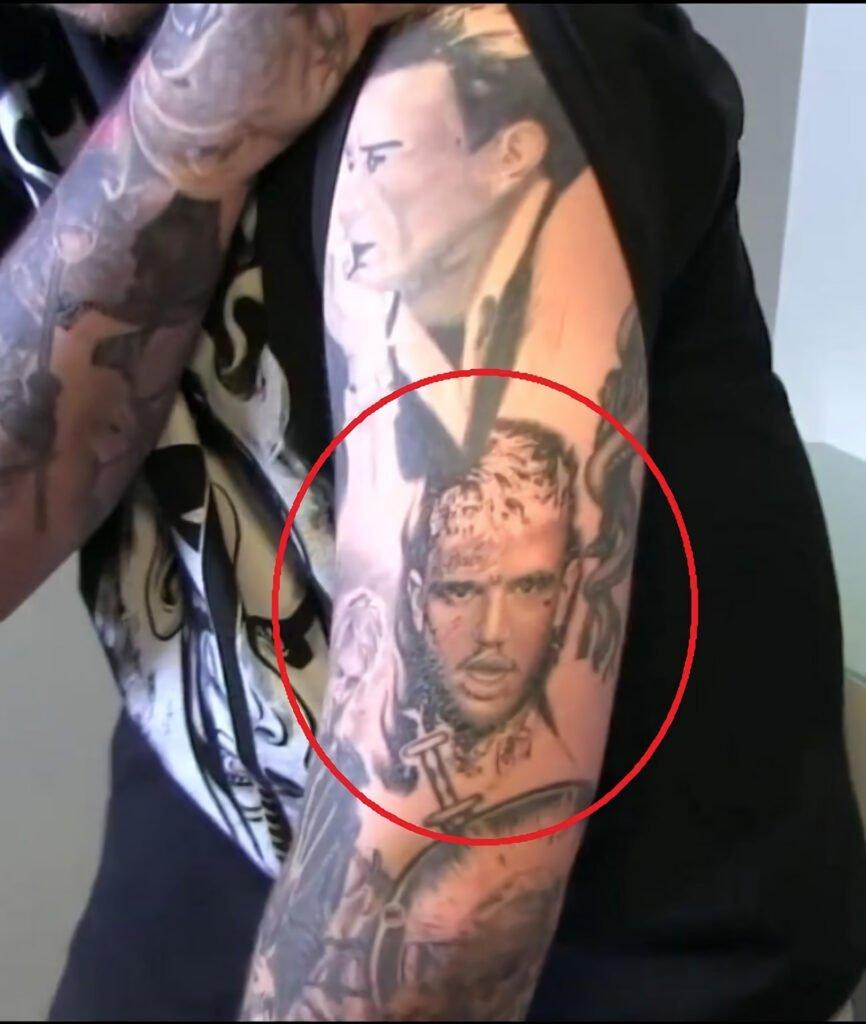 Lil Peep portrait tattoo